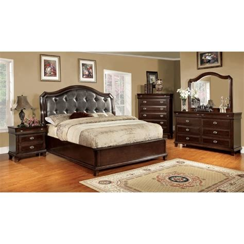 cherry bedroom sets furniture of america semptus 4 piece queen bedroom set in 11072 | 1544584 L