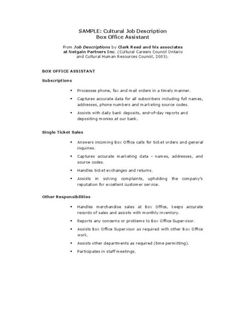Assistant Description Resume by Office Assistant Resume Description