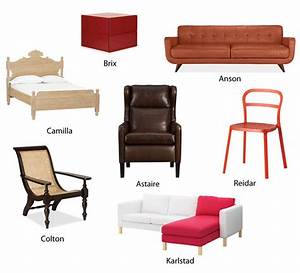 how retailers give names to furniture apartment therapy With home furniture items name