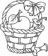 Basket Apple Coloring Clipart Outline Clip Pages Printable Fruit Picking Template Cliparts Apples Line Empty Clipartpanda Baskets Sheet Fall Sheets sketch template