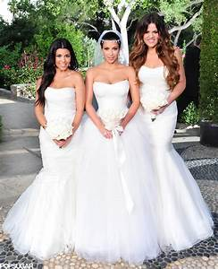 Kim decked her bridesmaids — sisters Khloé and Kourtney ...