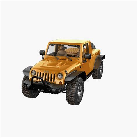 jeep moab truck jeep wrangler moab pickup 3d model