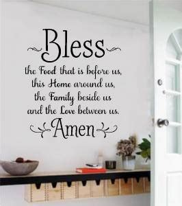 stickers phrase cuisine bless the food before us wall decals vinyl sticker words
