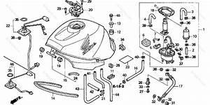 Honda Motorcycle 2000 Oem Parts Diagram For Fuel Tank
