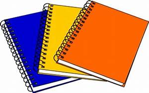 Notebook clipart three - Pencil and in color notebook ...