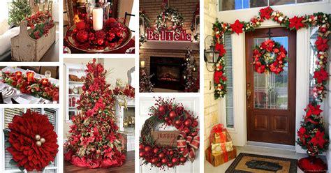 red christmas decor ideas  designs