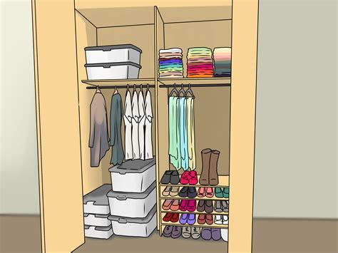 How To Keep Clothes In Cupboard by How To Organize Your Closet 12 Steps With Pictures