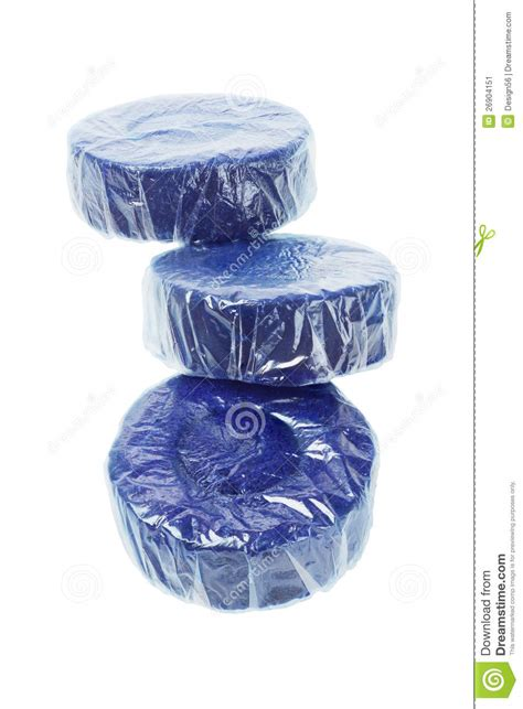 blue toilet cleaner tablets stock image image