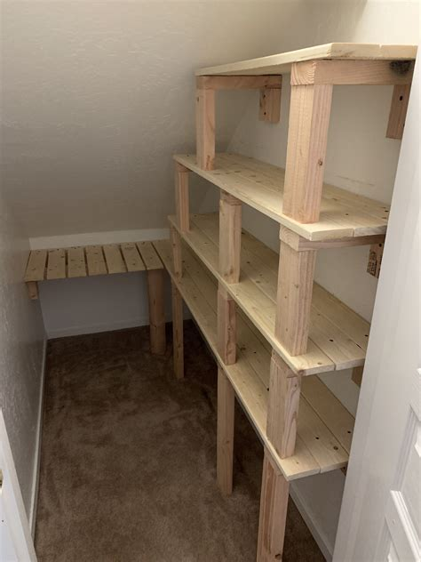 Stair shelves and unconventional storage spaces around your stairs are clever ways to declutter you home. Under stairs pantry room | Closet under stairs, Room under stairs