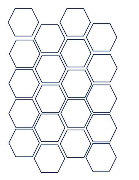 hexagon template hexagon template from we re engaged put a ring on students learni