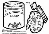 Soup Coloring Warhol Andy Pages Template Printable Edupics sketch template
