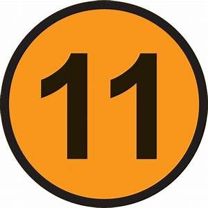 Number 11 - Free Picture of the Number Eleven