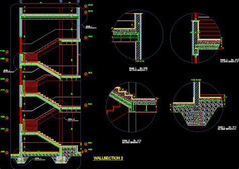 details stairs dwg section for autocad designs cad