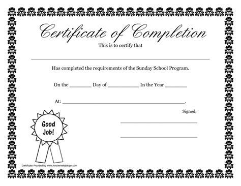 free printable certificate templates school certificates sle templates certificate templates