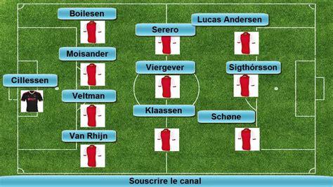 Ajax 1-1 PSG (Ajax LINE UP) Champions League 2014/2015 ...