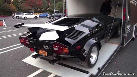 Unloading Lamborghini Countach LP 500S - YouTube