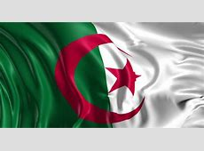 Flag of Algeria Beautiful 3d Stock Footage Video 100%
