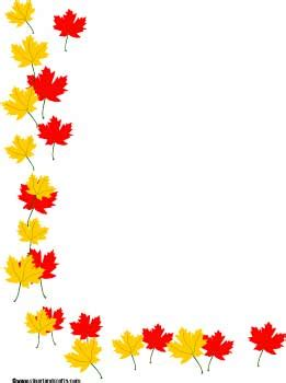 fall tree border clipart clipground
