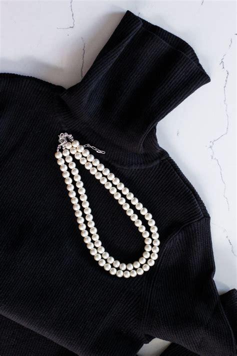 diy pearl studded sweater