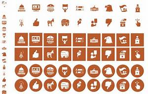 Us Election Special  U2013 Vector Visio 2013 Icons