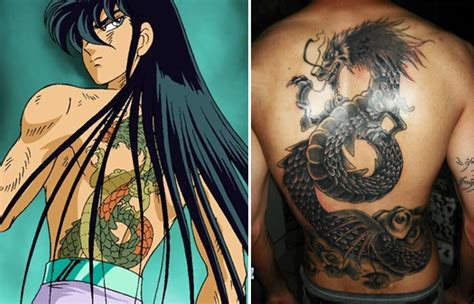 tatoos del dragon shiryu el caballero  mas huevos