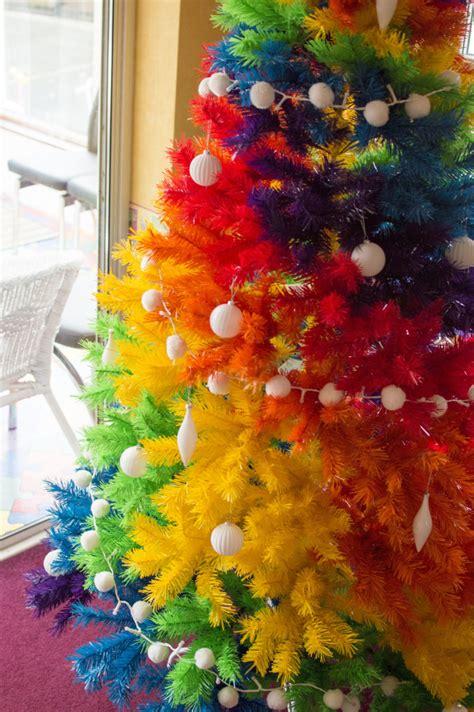 rock  colourful christmas tree