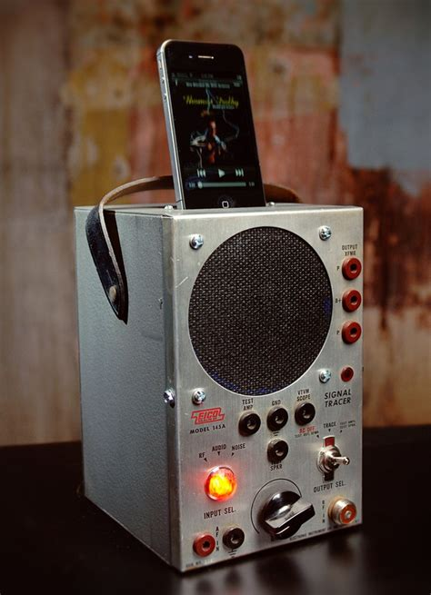 iphone station with speakers iphone 5 charging station with speaker from vintage radio