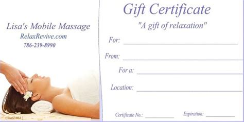 images  massage gift certificates  pinterest