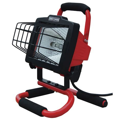 portable halogen work light craftsman 500 watt portable halogen work light
