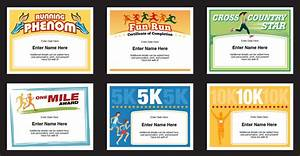 running certificates templates runner awards cross country With running certificates templates free
