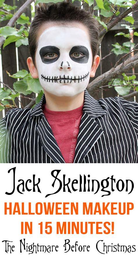 minute jack skellington halloween makeup happiness