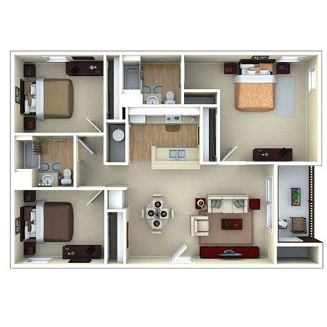 free floor plans 3bedroom 3d floor plan glenbrook apartments in sarasota
