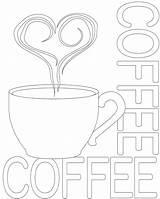 Coffe sketch template
