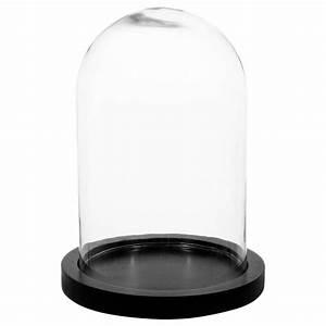 Cloche En Verre Socle Bois : lampe sous cloche globe vintage effet apothicaire avec ~ Teatrodelosmanantiales.com Idées de Décoration