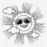 Coloring Activities Preschool Sunglasses Sun Cartoon Printable Drawing Basic Sky Mr sketch template