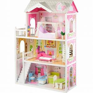mytoys grosses puppenhaus inkl mobel fur 29cm puppen With markise balkon mit hello kitty tapete online kaufen