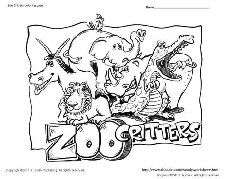 zoo critters coloring page coloring home