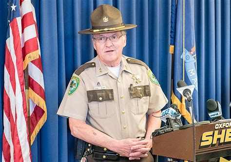 sheriff oxford county wake wayne harassment allegations immediately resignation gallant effective submitted shown conference wednesday during sexual steps down portland