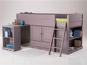 Lit Mezzanine Bureau Enfant : bureau pour fille 6 ans ~ Teatrodelosmanantiales.com Idées de Décoration