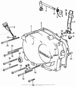 Honda Motorcycle 1976 Oem Parts Diagram For Right
