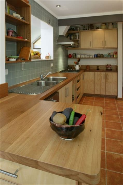 select custom joinery plywood kitchen  recycled timber bench top