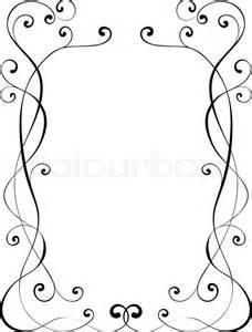 vector calligraphy penmanship ornamental deco frame pattern stock vector colourbox
