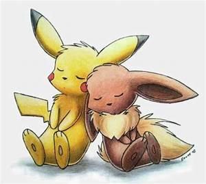 Cute Eevee Pikachu by Yori Donna Lasangue #1346164 | i ...