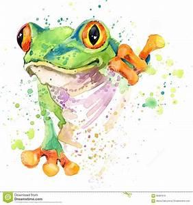 Frosch Bilder Lustig : lustige frosch t shirt grafiken froschillustration mit strukturiertem hintergrund des ~ Whattoseeinmadrid.com Haus und Dekorationen