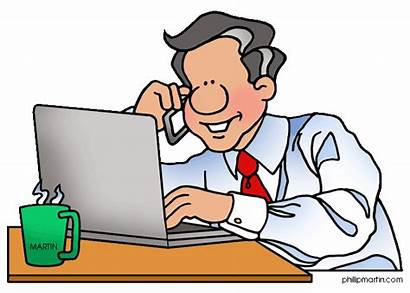 Clipart Working Father Office Clip Dad Cliparts