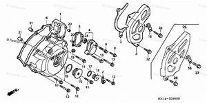 Honda Atv 1999 Oem Parts Diagram For Left Crankcase Cover