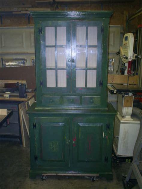 distressed painted hutch  rentman  lumberjockscom