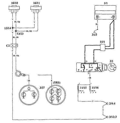 volvo 940 1995 wiring diagrams horn carknowledge