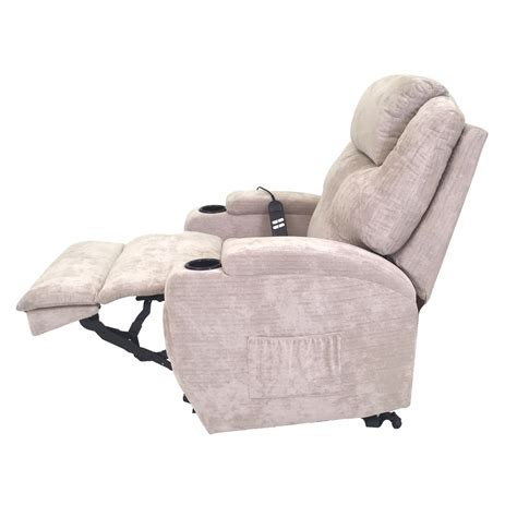 burlington fabric dual motor riser recliner chair elite