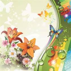Colorful Butterfly and Flowers